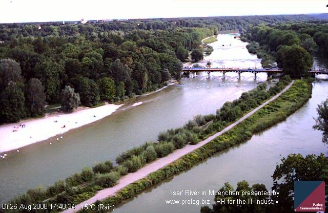 Веб Камера Река 'Isar'  , Мюнхен, Германия