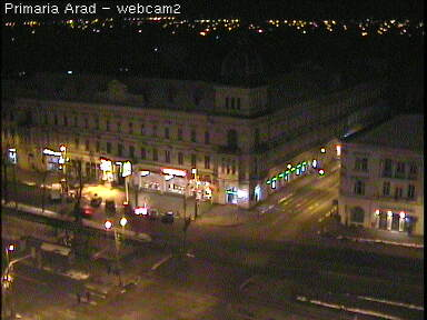 Веб Камера Плошадь перед здание администрации города Арад, Румения , Арад, Румыния