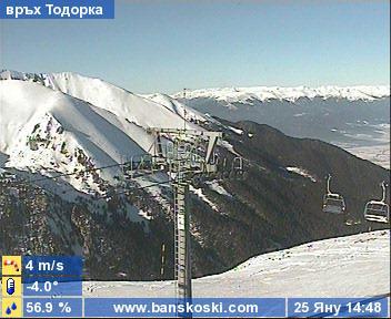 Веб Камера Банско, вершина Тодорка, ски трасса , Банско, Болгария